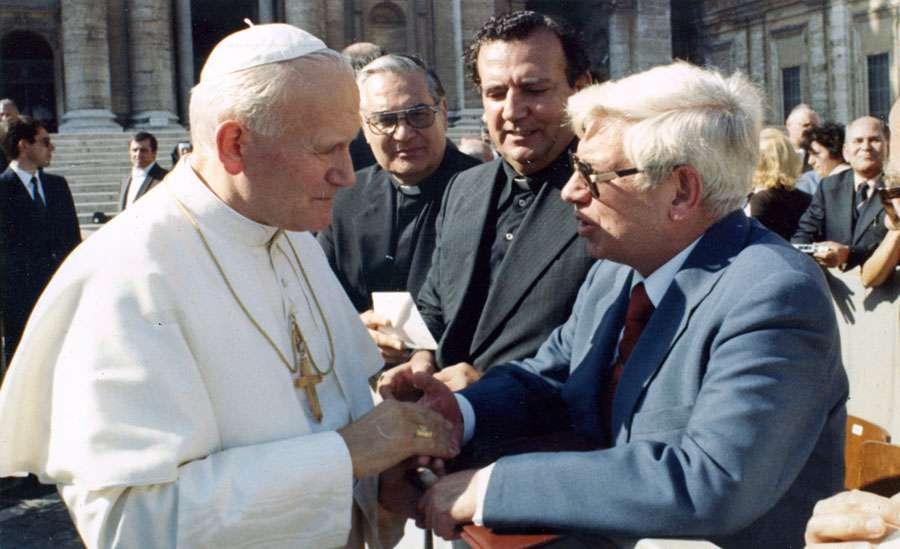 Papa Juan Pablo II con Fernando Rielo